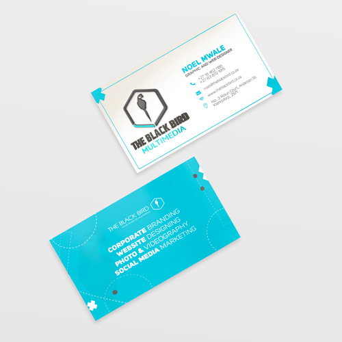 Business cards the black bird multimedia business cards home reheart Gallery